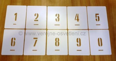 Číselné šablony pasportizace VO úzký font
