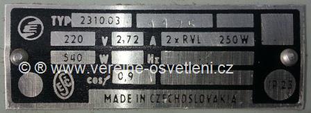 Elektrosvit typ 2310.03