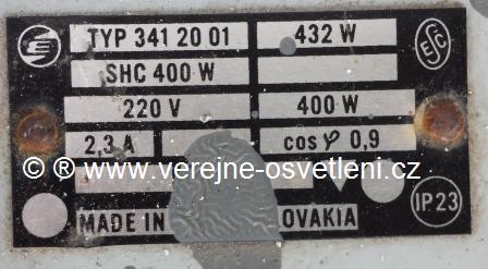 Elektrosvit typ.34120 01 SHC400 W