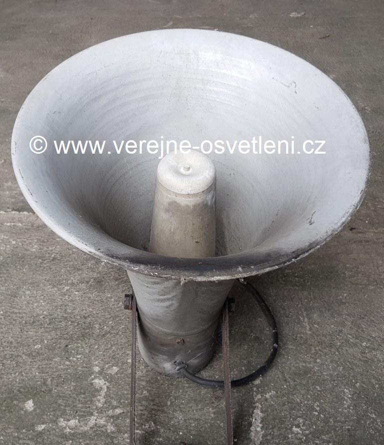 Amplion tlakový starý tlampač malý hlinikový