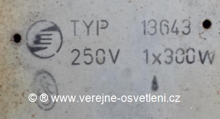 Elektrosvit typ 13643 1x300W