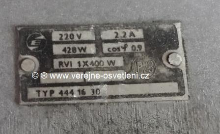 Elektrosvit typ.4441630 RVI 1x400 W