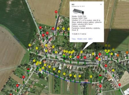 mapy verejneho osvetleni